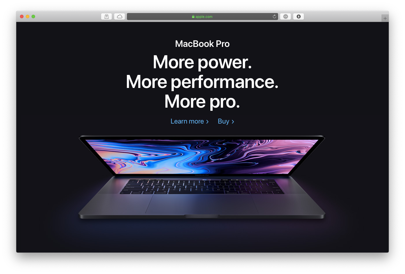 Apple MacBook pro-modell 2019