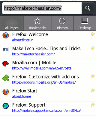 Firefox-Android-Awesomebar