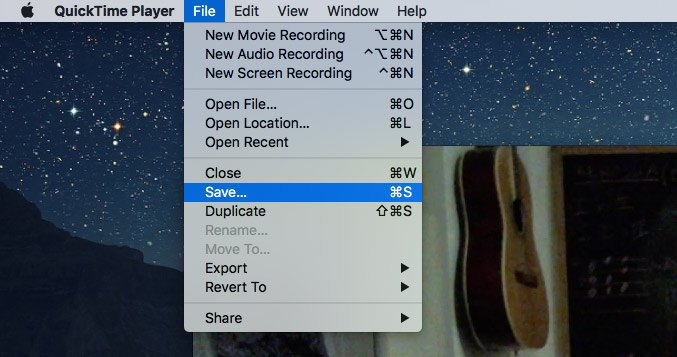 Quicktime-Player-Save-Datei
