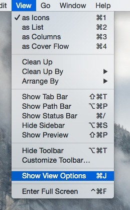 Library-OSX-Show-View-Optionen