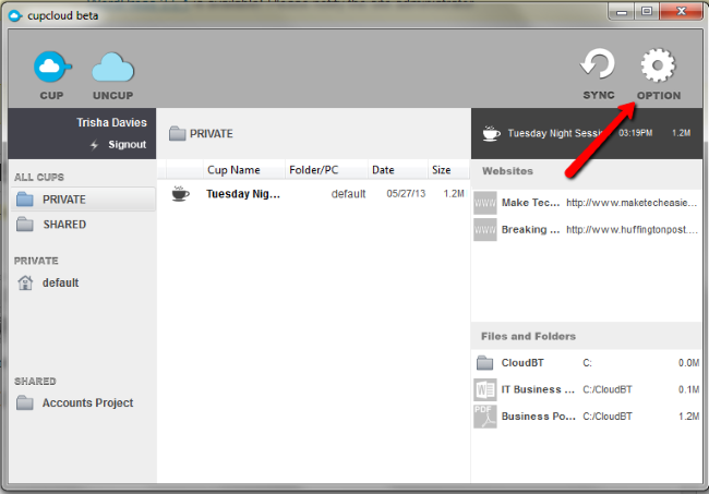 Cupcloud-Option-Icon-Zugriff